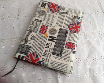 A Fabric covered notebook/journal/diary.