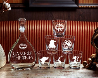 Game ot Thrones Gift for men Wedding gift Fathers gift Christmas gift House Stark House Targaryen Gift Whiskey gift Game ot Thrones gift