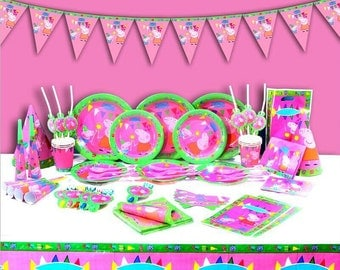 Peppa pig complete Birthday Party Supplies Set tableware