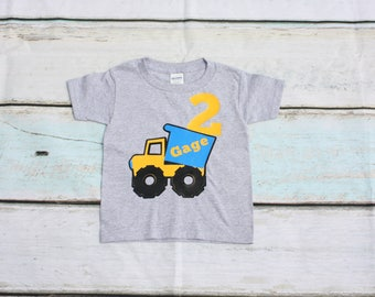 Construction Birthday Shirt Yield Sign Birthday Shirt Truck Tshirt Caution Shirt Personalized Birthday Shirt