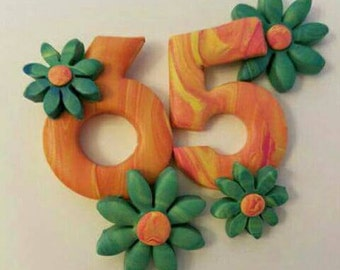Flower Power Birthday Magnet