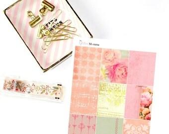 Peonies | Spring | Full Boxes | Erin Condren Life Planner Vertical