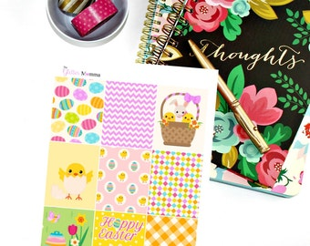 Easter | Full Boxes | Erin Condren Life Planner Vertical
