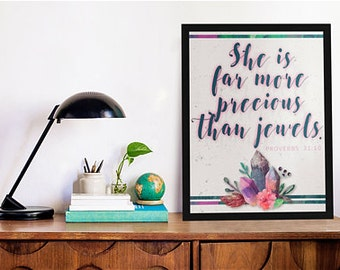 """8""""x10"""" Precious Than Jewels Print"""