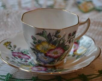 "English Bone China ""Rosina"" Cup and Saucer"