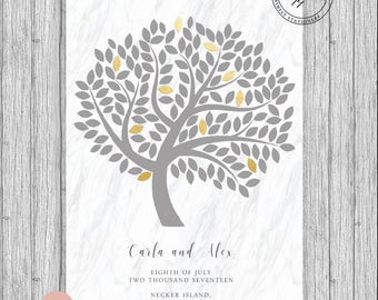 154 Leaf Fingerprint Leaf Sign Tree Custom Personalized Poster A4 A3 Modern 2017