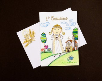 First Communion card