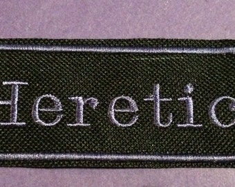 Heretic iron on patch