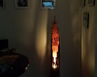 Southwestern Cactus Wood Floor Lamp