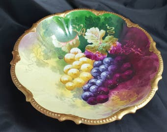 "Coronet Hand Painted by Rancon 10.25"" Bowl Limoges"