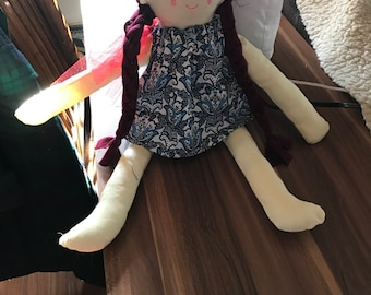 Custom rag doll - soft body doll for baby toddler child