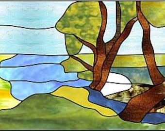 Stainedglass suncatsher. 15 x 10 inches