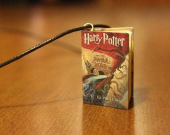 4cm Harry Potter Chamber of Secrets Inspired Miniature Book Necklace