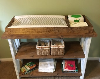 Handmade customized baby changing table