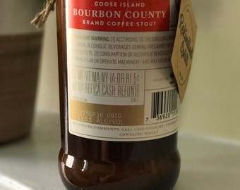 Goose Island Bourbon County Brand Stout Beer Candle