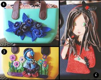Handbag style or ' Bag-bag with handmade decorations-fashion accessories-polypropylene bag-shoulder bag-Homemade