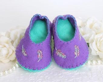 Baby Booties, Handmade Baby Shoes, Felt Baby Shoes, Handmade Felt Baby Booties, Handmade Booties, Handmade Booties, Baby Gifts, Felt Baby