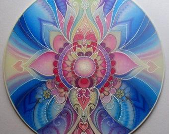 MANDALA ART ....Harmony...Peace...( Healing home decoration on silk)