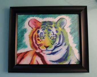 Tiger of Many Colours-Original Oil Painting