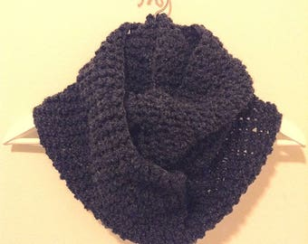 Crochet Scarf - Charcoal Gray