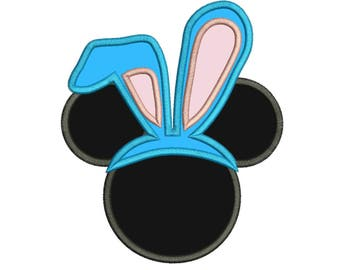 Character Inspired Mickey Bunny Ears Embroidery Applique Design