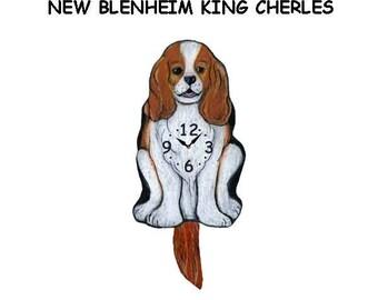 NEW Blenheim King Charles clock