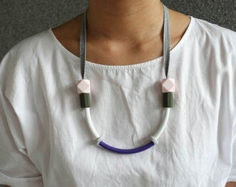 Colour block minimalist necklace jewellery
