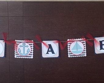 Its a boy! Nautical banner