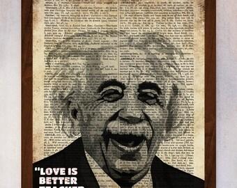 Einstein Art Print, Einstein Wall Art, Book Page Print, Dictionary Page Print, Einstein Poster, Einstein Famous Quote, Einstein Poster