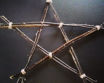 Pentagram - star pagan witchcraft wiccan hanger wooden witch hedgewitch altar temple ritual