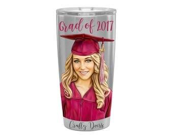 Graduation Gift - Graduation Gift for her - Graduation Gift for daughter - Grad Gifts - Graduation Drinkware - Graduation Mementos