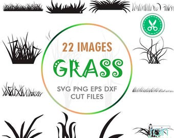 Grass Svg, Grass Clipart, Grass Backdrop, Lawn Svg, Digital Cut Files, Svg Cutting File, Svg Silhouette, Silhouette Cameo Files, Dxf Files