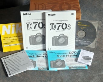 Nikon 70s manual, Picture Project1.5 all paperwork and box... NO CAMERA
