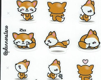 Fox stickers - Decorative Stickers - Stickers for Planners