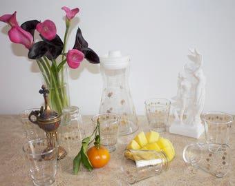 Juice pitcher and glassware set