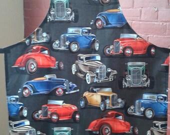 Old Car Apron - Deuce Coupes - Handmade