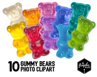 10 Gummy bears photo clipart / for personal and small commercial use