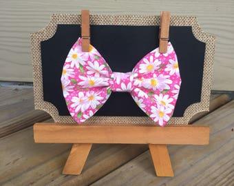 Pink Sunflower Hair Bow
