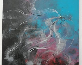 "Acrylic painting, handmade, original, abstract, Title: ""Ausdehnung"""
