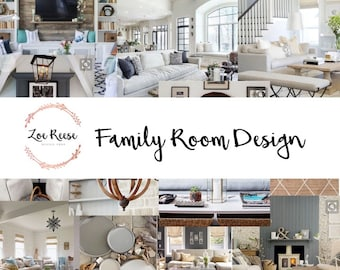 Family Room Interior Design Digital Service For Decor