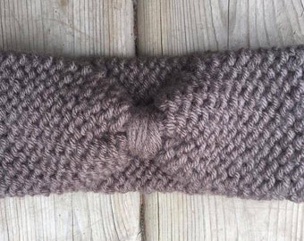 Bow Headband (in taupe brown)