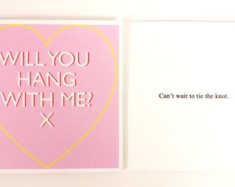 Dark Humour Valentines Card: Will You Hang With Me?