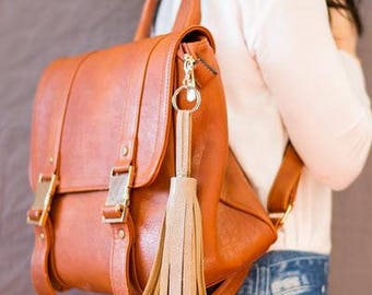 Long Faux-Leather Tassel Kit - Vegan Fashion - Craft Kit - Contemporary - Simple - Modern Style