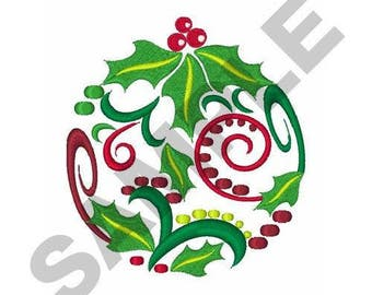 Christmas Ornament - Machine Embroidery Design