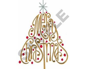 Merry Christmas Tree - Machine Embroidery Design