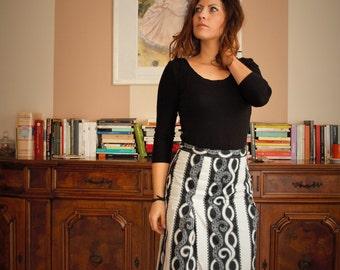 Petal skirt flared fabric pattern WaxPrint