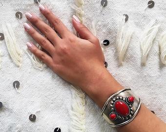 Boho Cuff, Moroccan Bracelet, Moroccan Jewelry, Gypsy Cuff, Coachella Trend - Free US Shipping