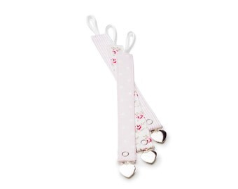 Universal Pacifier clips / 3 pack Pacifier holder set  / Universal Pacifier Holder with Clip  - Pink