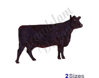 Black Angus Cow - Machine Embroidery Design