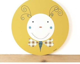 Table round illustration child Butterfly